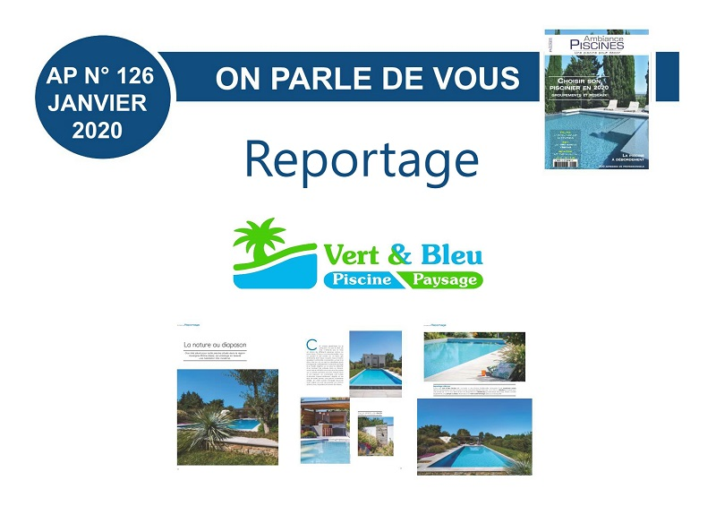 Reportage photos Magazine Ambiance Piscines